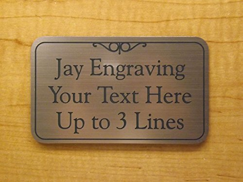 Custom Engraved 3x5 Office Suite Sign Plaque | Brushed Gold, Silver or Copper Adhesive-Back | Personalized Home Business Unit Apartment Signs Plaques Placard ADA Customized Plate Tag (Brushed Copper)