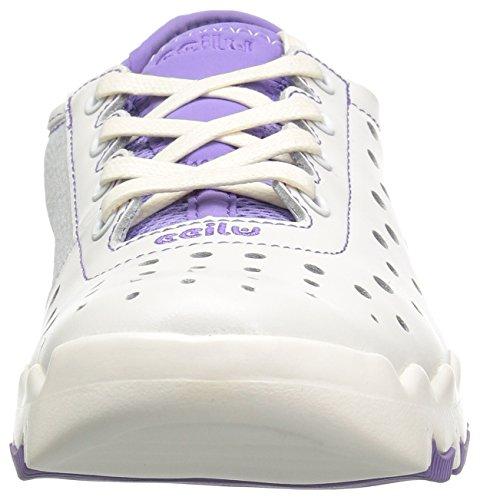 Ccilu Womens Capri Wax Walking Shoe Bianco