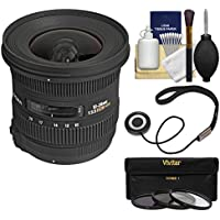 Sigma 10-20mm f/3.5 EX DC HSM Zoom Lens with 3 Filters Kit for Nikon D3300, D3400, D5500, D5600 D7100, D7200, D7500 DSLR Cameras