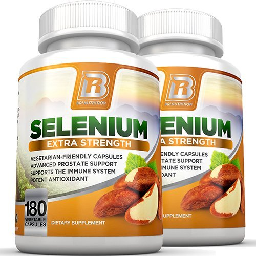 BRI Nutrition Selenium 2-Pack, 180ct 200mcg Vegetable Formula - Essential Trace Mineral to Support Thyroid, Prostate and Heart Health* - Yeast Free - Made in the USA by BRI Nutrition