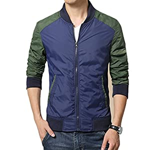 Olrek Men's Lightweight Breathable Front-Zip Jacket
