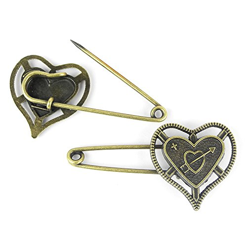 Fashion Jewelry Making Charms Wholesale Supplies Pendant Retro DIY Necklace Antique Jewellery Findings A15550 Love Pin Brooch