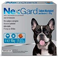 Antipulgas e Carrapatos NexGard para Cães de 4,1 a 10kg - 1 tablete
