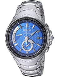 Seiko Mens COUTURA Quartz Stainless Steel Casual Watch, Color:Silver-Toned (Model: SSG019)
