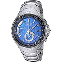 Seiko Men's 'COUTURA' Quartz Stainless Steel Casual Watch, Color:Silver-Toned (Model: SSG019)