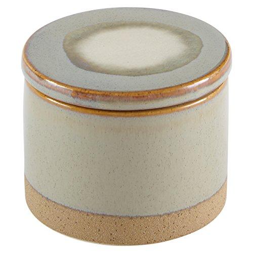 Stone & Beam Stoneware Round Decorative Jewelry Box - 3.75 x 4.75 Inches, Sage