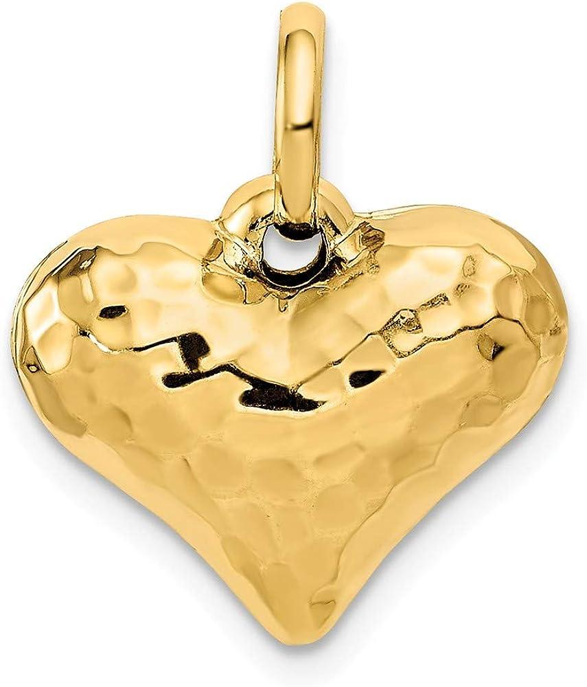 14k Yellow Gold Girl Charm Pendant 18mm x 16mm