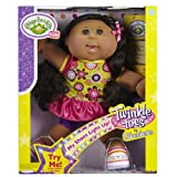 Cabbage Patch Kids Twinkle Toes: A/A Girl Doll, Black Hair, Brown Eyes