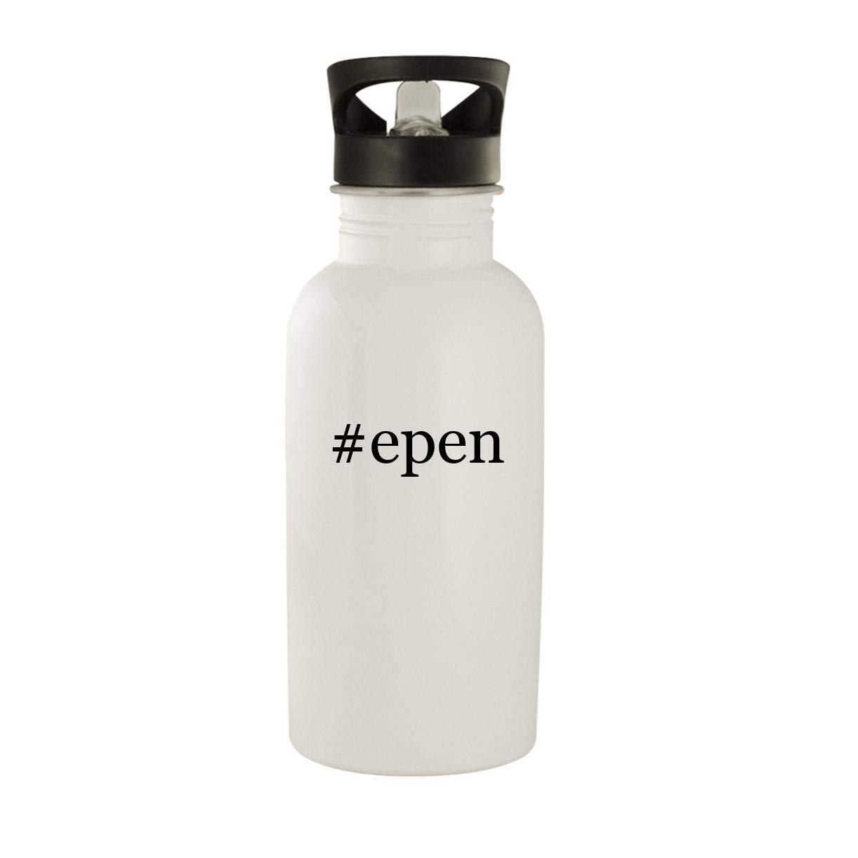 #epen - Stainless Steel Hashtag 20oz Water Bottle, White