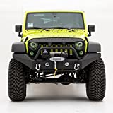 Cheap Restyling Factory -Full Width Front Bumper With Fog Lights Hole and Winch Plate Built In -Textured Black for 07-17 Jeep Wrangler JK