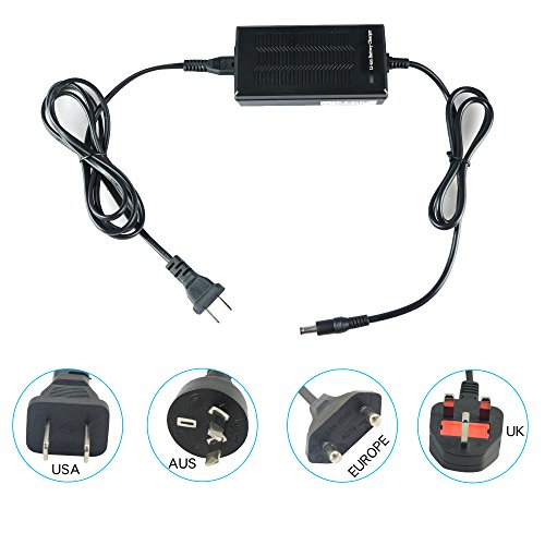 on Battery Charger Electric Bike Battery Charger Universal Charger for Electric Bicycle Ebike Charger with DC Plug(for 36 V battery) ()