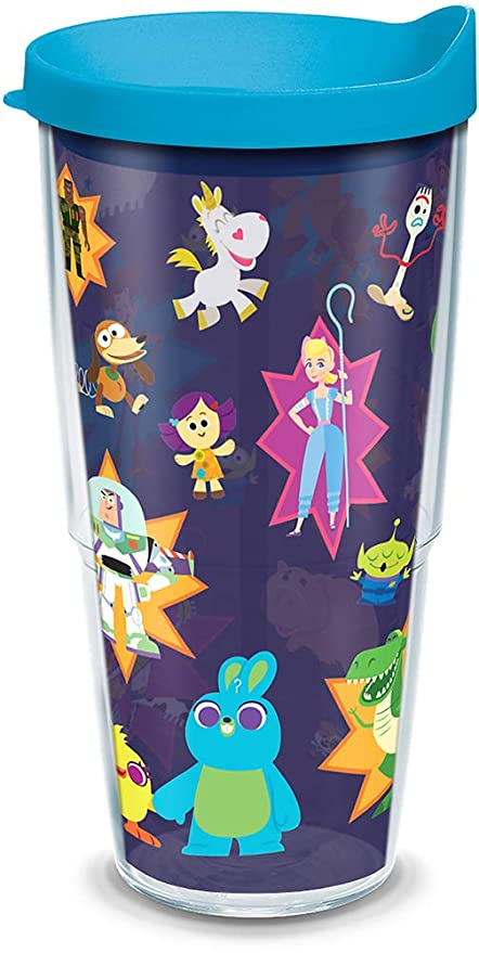 5ed09e83908 Tervis 1319854 Disney/Pixar - Toy Story 4 Collage Insulated Tumbler with  Wrap and Lid, 24 oz, Clear