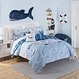 WAVERLY Kids 16446BEDDFULAQU Ride The Waves 90-inch by 88-inch Reversible Full Comforter Collection, Aqua