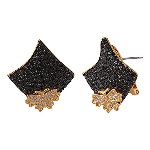 shaze gold-colored Black Bella Earring by Shaze