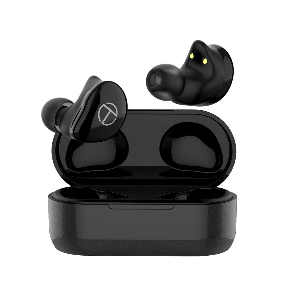 hellodigi T200 Wireless Earphone,Bluetooth 5.0 True Wireless Earbuds Hybrid in Ear Headset,HiFi Sound Quality with CVC8.0 Noise Reduction Technology,Touching Control,Supports APT-X AAC SBC Code,Black