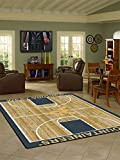 West Virginia College Home Basketball Court Rug: 54'x78'