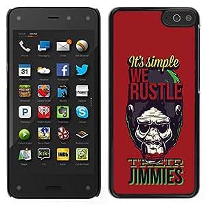 Caucho caso de Shell duro de la cubierta de accesorios de protección BY RAYDREAMMM - Amazon Fire Phone - Divertido Nos Hustle Gorila Mono Mono Monos Planet