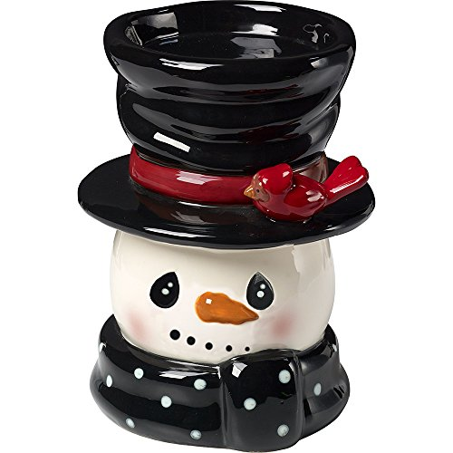 (Snow Much Fun by Precious Moments Snowman Holiday Décor Ceramic Candle Holder)