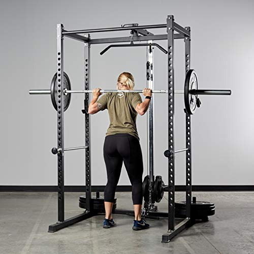 Rep Power Rack with Adjustable Bench and Dip Attachment