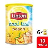Lipton Iced Tea Mix, Peach 10 qt (Pack of 6)