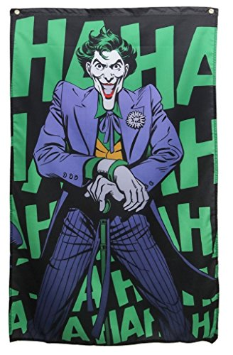 DC Comics- Joker 'Haha' Banner Fabric Poster 30 x 50in -