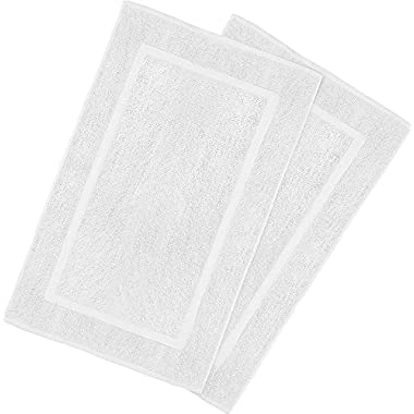 Utopia Towels 21-Inch-by-34-Inch Cotton Washable Bath Mat, 2 Pack, White