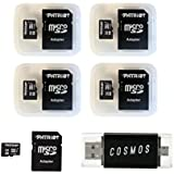 Patriot Memory 32GB Micro SDHC, 5 Pack with Card Reader (PSF32GMCSD5PKCM)