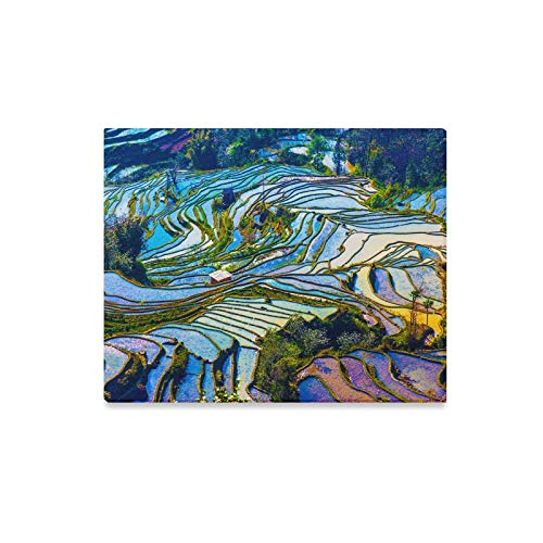 XINGCHENSS Wall Art Painting Yunnan City Free Travel Romantic Color Prints On Canvas The Picture Landscape Pictures Oil for Home Modern Decoration Print Decor for Living Room ()