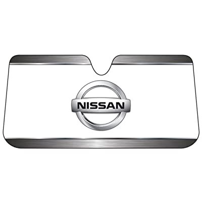 Plasticolor 003708R01 Nissan Logo Accordion Style Car Truck SUV Front Windshield Sunshade: Automotive