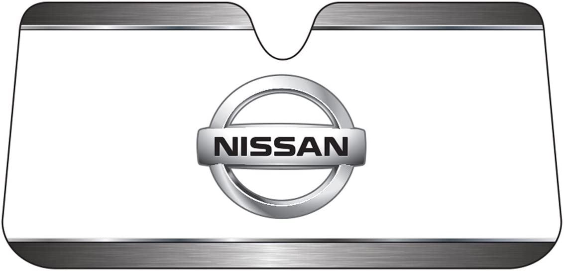 Plasticolor 003708R01 Nissan Logo Accordion Style Car Truck SUV Front Windshield Sunshade