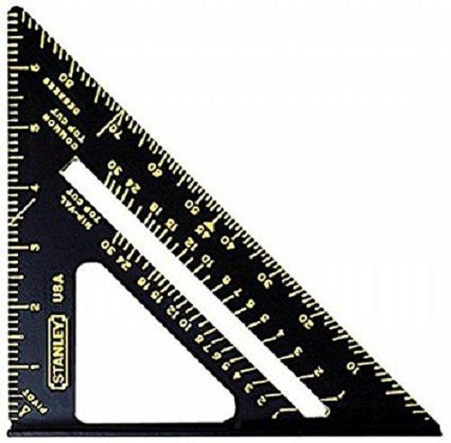Stanley 46-071 7'' Premium Quick Square Layout Tool, Black - 5 Pack