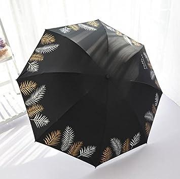 NING567 Paraguas/Mujeres/Dual/Doble/Plegado/Grandes/Doble/Manual