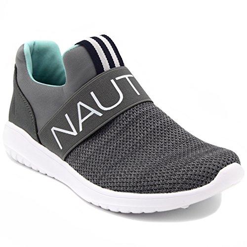 Nautica Kvinner Mote Jogger Sneaker (lisse-up / Slip-on) Radikal Grå Slip-on