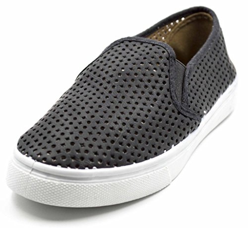 Women's Black Sneakers Gore On Sneaker Ecentrcq Charles Flat Albert Slip On Perf Canvas Fashion Slip Elastic afnwq