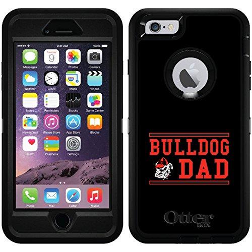 Georgia Bulldog Dad design on Black OtterBox