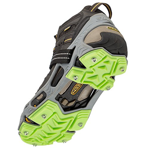 STABILicers HIKE XP, Made in USA, High Performance Snow and Ice Traction Cleats for Shoes and Boots, 25 Replacement Cleats Included, Gray/Green, Size XL by STABILicers (Image #3)