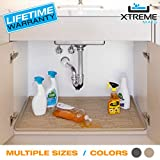 Xtreme Mats Under Sink Bathroom Cabinet Mat, Pick Your Size, 21 5/8 x 18 7/8, Grey