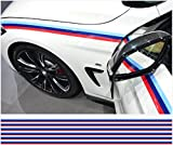 BMW M stripe decal pinstripe stripe 200cm x 45mm 6pcs. set (red,dark blue, light blue)