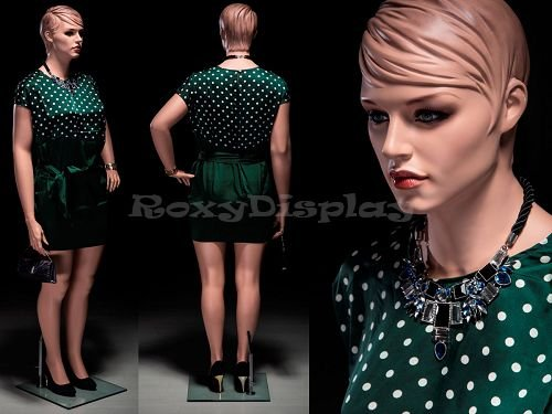 (MZ-AVIS3) ROXYDISPLAY™ Plus Size Female Mannequin with Molded Hair. Pretty face, elegant looking by ROXYDISPLAY™