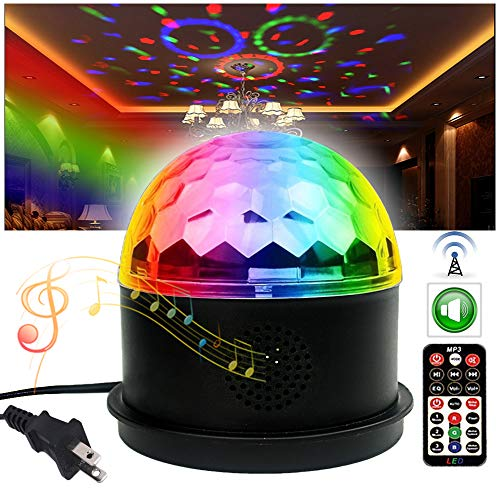 Dj Disco Ball Party Lights Bluetooth Speaker TONGK LED Magic Ball Colorful Mirror Ball Disco Lights Sound Activated Strobe Light for Home Party Gift Birthday halloween Dance Bar Xmas Wedding Show Club ()