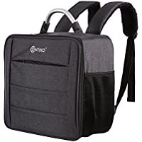 Contixo Waterproof Multi-Purpose Backpack Travel Bag, Large Outdoor Camera Carry Case Storage Bag for Contixo F18 Drone, Force1, MJX Bugs 2, Kedior, Mystery Stone & More- Black