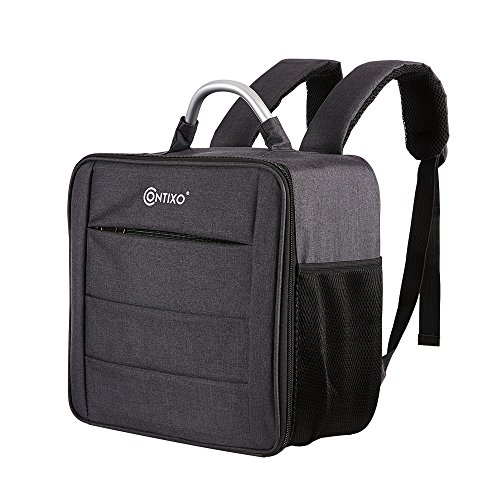 Contixo F17 Water-proof Zip-up Drone Carrying Bag Compatible w MJX Bugs 3, Force 1, F100 Ghost Drone