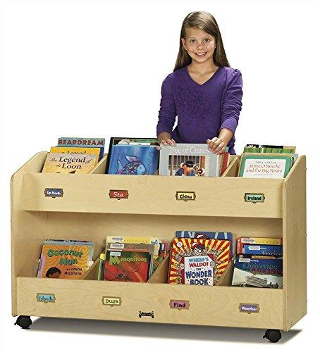 Jonti-Craft 5369JC Mobile 8-Section Book Organizer - Mobile Book Display