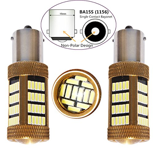 Bulbeats 1200 Lumens 2 X 92BT Chipsets 1156 7506 1003 1141 1073 BA15S 1095 1073 LED Bulbs with Projector Interior RV Camper Xenon White 6000K