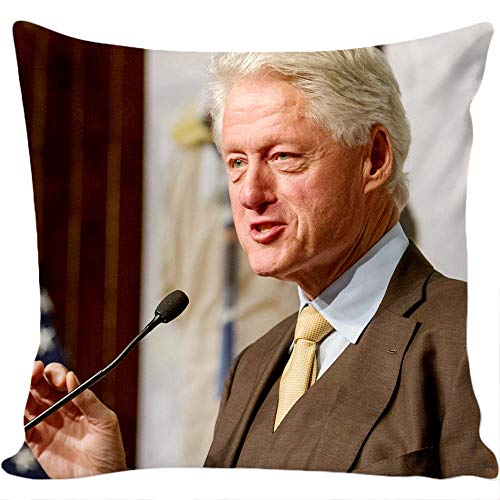 Case Bill Clinton (Decorative Pillow case with Bill Clinton Design, Micro Fiber Pillow Insert is Included.)