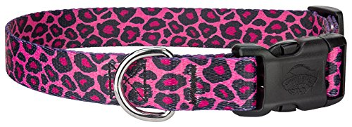 25 - Country Brook DesignPink Leopard Print Deluxe Dog Collars - Extra Large