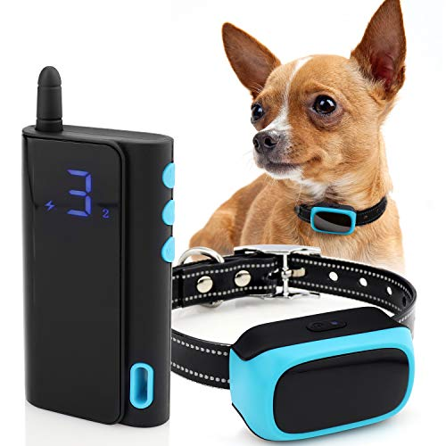 eXuby – Shock Collar for Small Dogs 10-20 pounds Rechargeable – Waterproof Remote Dog Training Collar with 3 Settings…