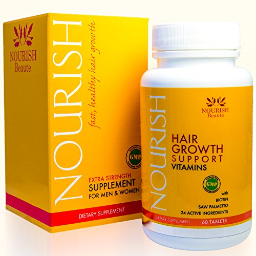 Biotin Hair Growth Vitamins With Powerful DHT Blockers- Guaranteed Results...