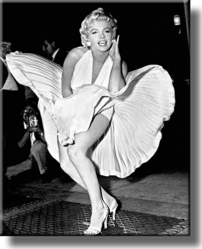 Original Marilyn Monroe Pose Picture on Stretched Canvas, Wa