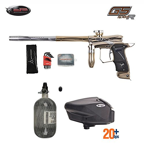 - MAddog Dangerous Power G5 Spec-R HPA Paintball Gun Package C - Halo (Gold/Silver)